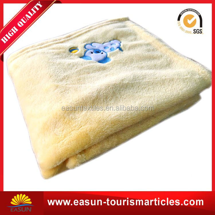 embroidery donation travel blanket with zipper