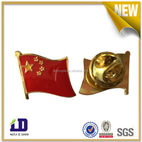 China manufacturers custom Promotion Metal Crafts soft enamel 3d country flags lapel pin with butterfly clutch