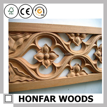 Hot Selling Main Door Wood Carving Design Flower For Decor