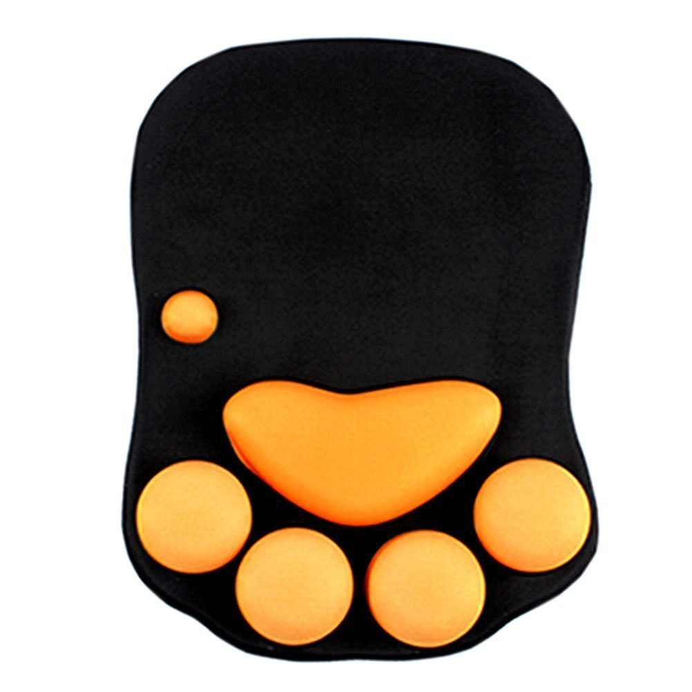AUCH Cute Cat Paw Soft Silicone Wrist Rests /Wrist Cushion/ Keyboard Mouse/ Wrist Rest Comfort Support Pad/Mouse Pad Desk Decor