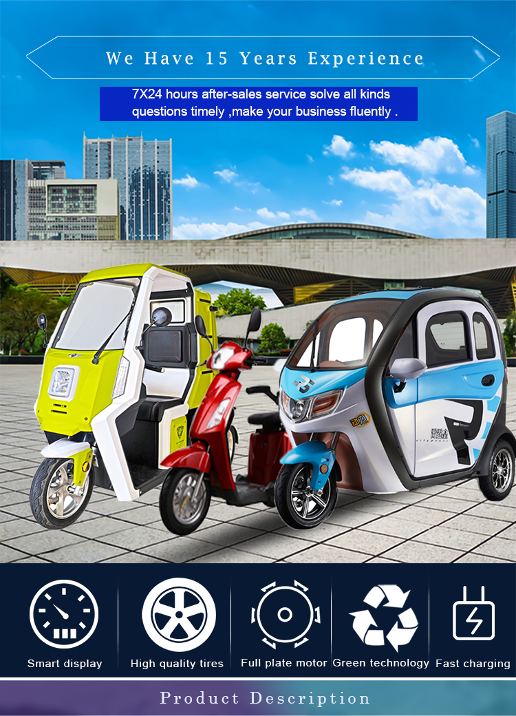 Factory direct supply New EEC Approval 2000w Power three wheel adult electric tricycle