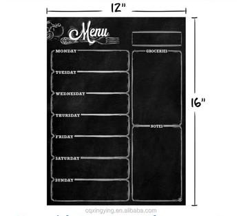 Monthly Blank Dry Erase Wall Calendar