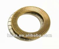 OEM passed Custom stainless steel / brass / aluminum conical self locking washer ,hard flat Self locking washer