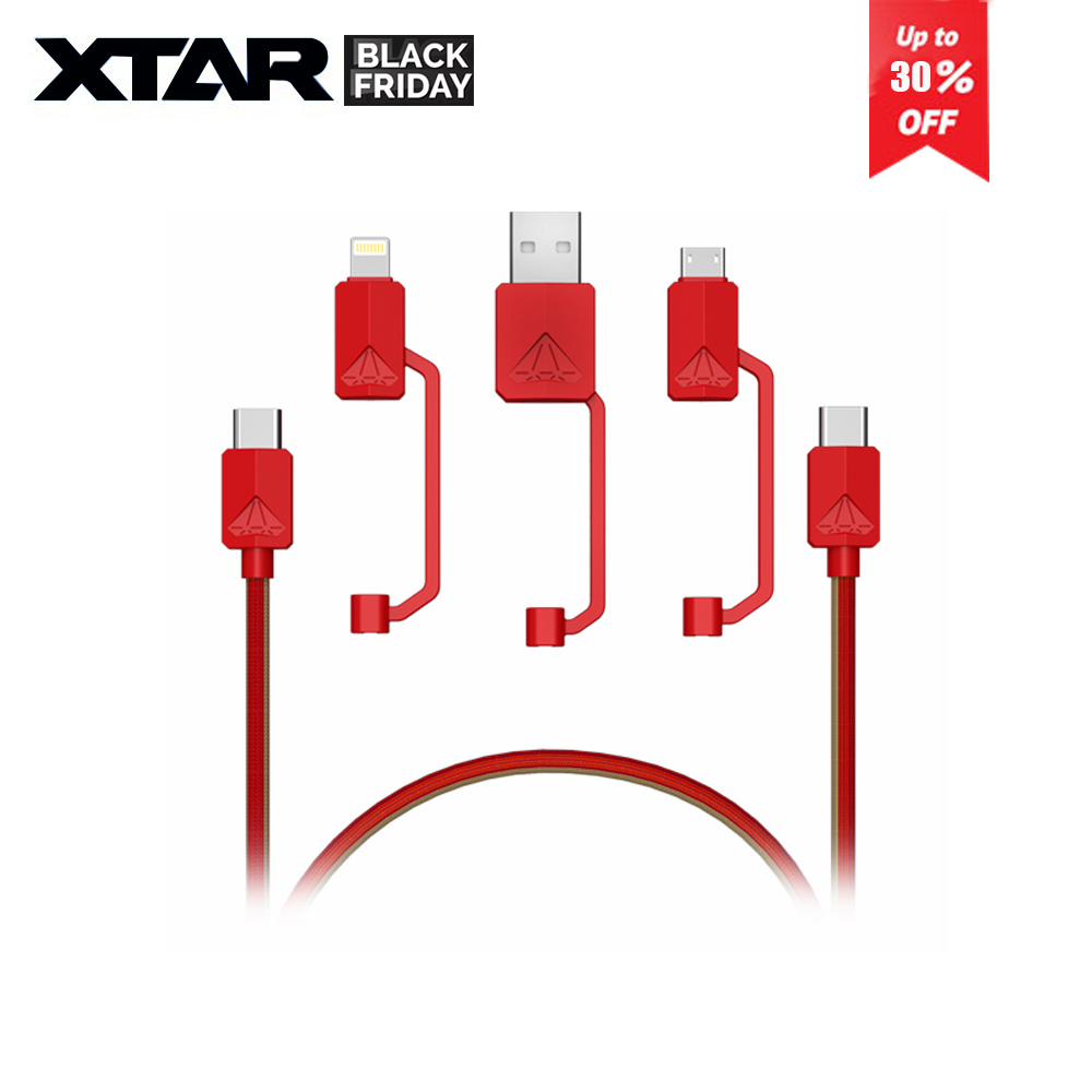 PDC-3  type-C / Micro USB All-in-one 3A fast charging USB Cable for Huawei iphone and samsung
