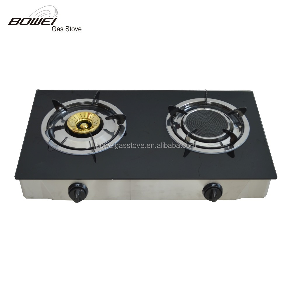 Home kitchen appliance 2 big burner gas stove BW-BL2017A
