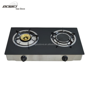 Home Kitchen Appliance 2 Big Burner Gas Stove BW BL2017A