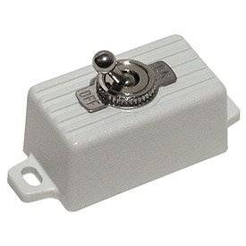 SECO-LARM SS-076Q/SW SPST Toggle Switch, Snow White (2 Pack)