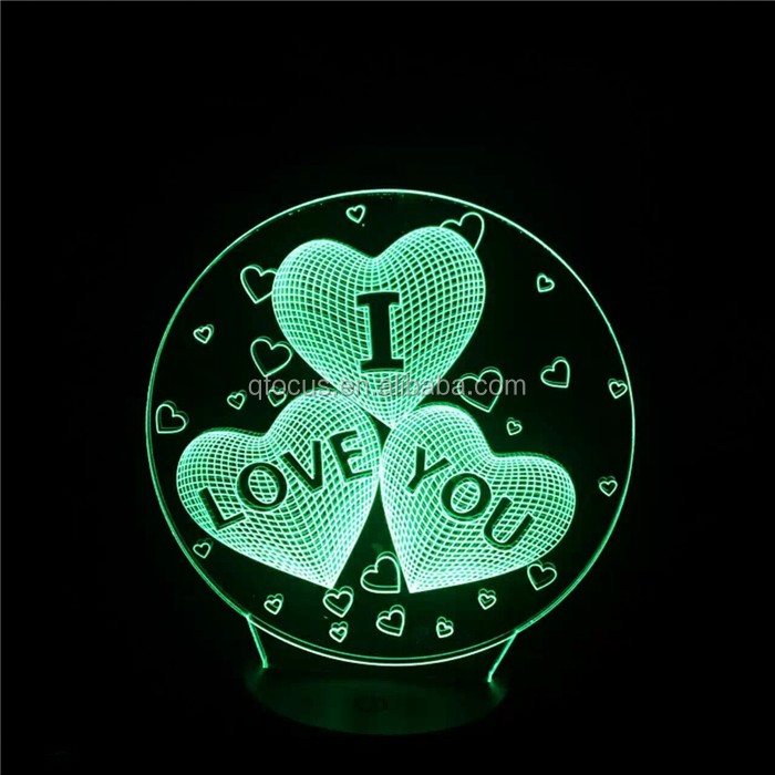 Acrylic LED gift I love You led lamp for the bedroom house, led light lamp  love lamp