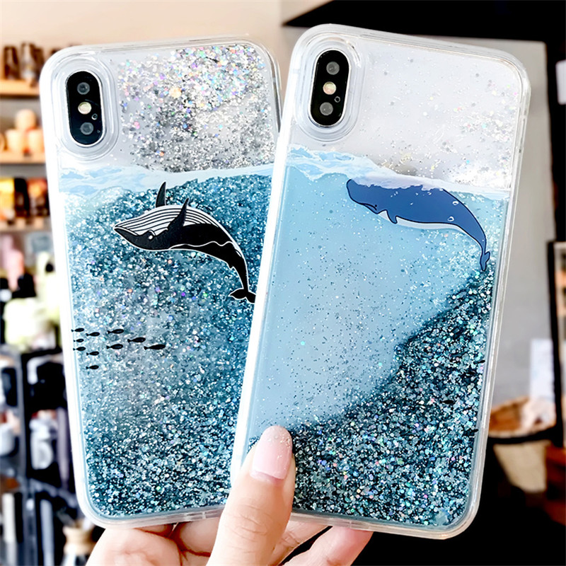 Cellphones & Telecommunications Strict Whale Fish Water Liquid Case For Samsung Galaxy S8 S9 Plus Note 8 Phone Bags & Cases Note 9 Clear Glitter Stars Soft Silicone Tpu Cover