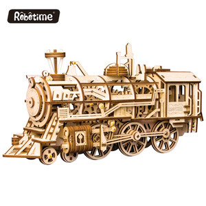 Custom locomotive 3d Wooden Puzzle, Brain Teaser, Construction Set for Teens and Adults