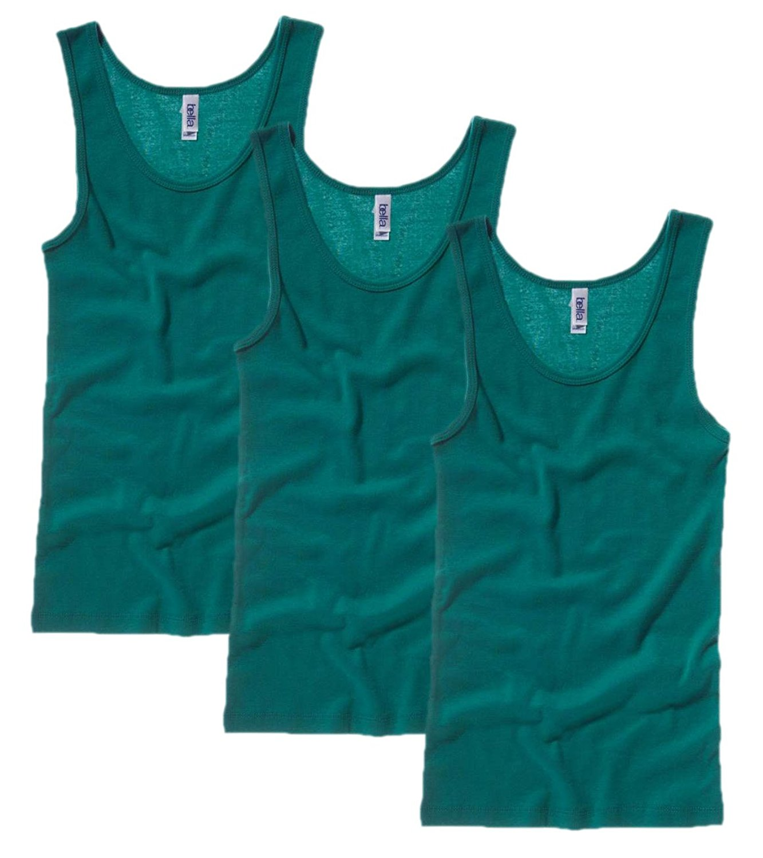 Womens 3 Pack Bella Canvas Ladies Vest Tank Top Shirt