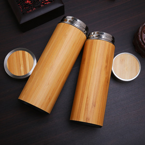 Bamboo wood customized travel / coffee / car mug