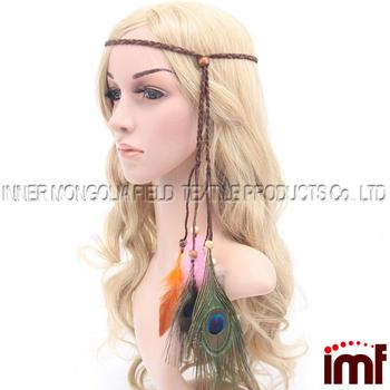 Feather Headband Native American Indian Hairband Tribal Headdress