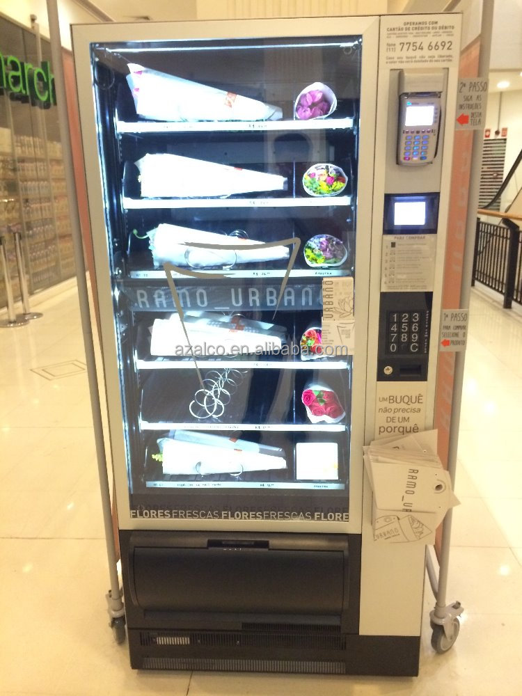 Flower vending machine with cheap price and visa card reader