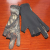 3 finger cut Camo Neoprene Glove Fishing Gloves