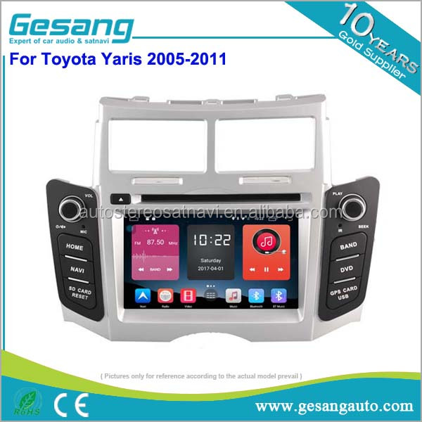 Double din 9 inch Android 6.0 car dvd gps support 4G /wifi/dvr/tpms for Toyota Yaris 2005-2011