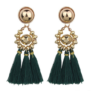 Fashion Colorful Silk Thread Tassel Earrings Size For Women
