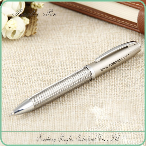 2016 high quality name branded woven metal graphic design luxury writing pen
