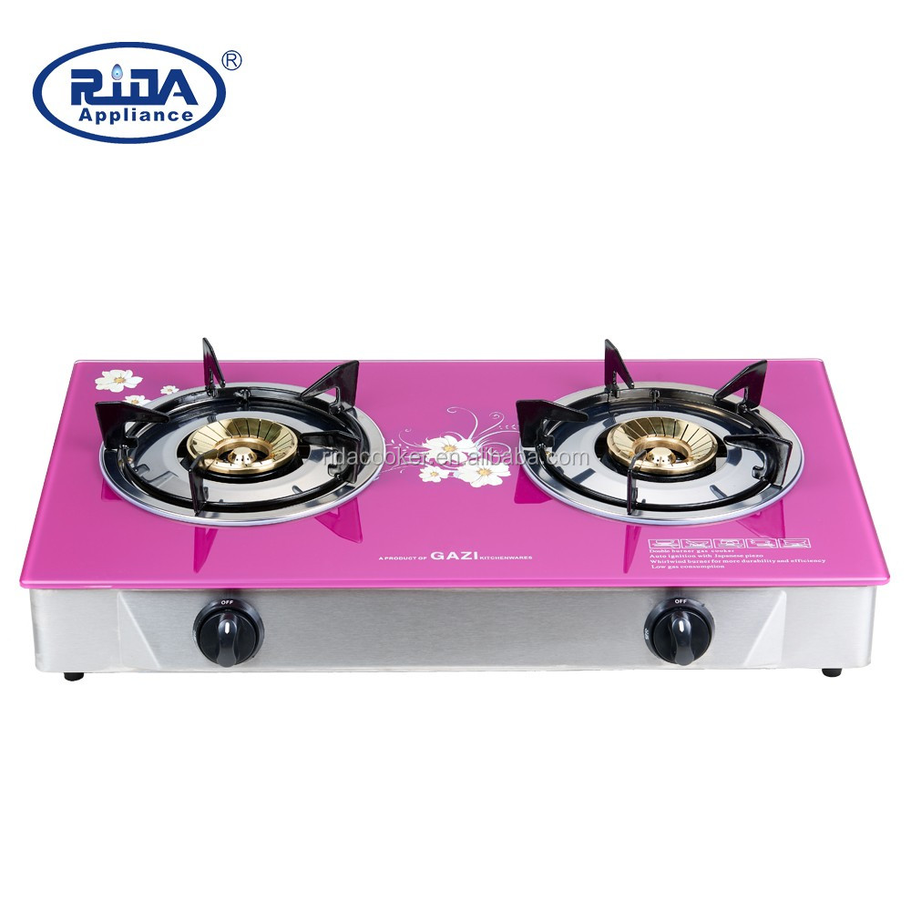 Portable Double Burner Tabletop Gas Cooker Stove 2 Top Table Head Product On