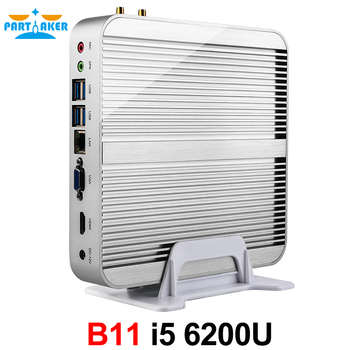Partaker B11 Skylake Intel Core I5 6200U Fanless Mini Pc WIN10 Installed WIFI300M