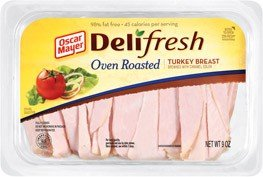 OSCAR MAYER LUNCH MEAT COLD CUTS DELI FRESH OVEN ROASTED TURKEY BREAST 9 OZ PACK OF 3