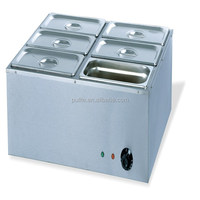 OUTE CE Stainless Steel Electric Bain-Marie/ Soup Food warmer Buffet (OT-6V)