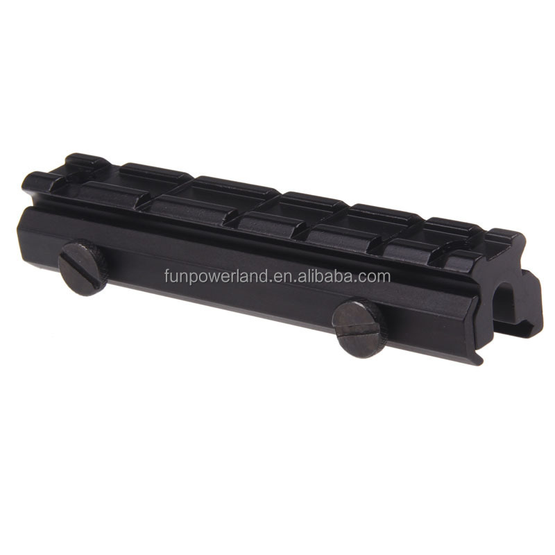 Funpowerland High Durability Standard 20mm Raiser Base Picatinny Scope Rail Mount Riser