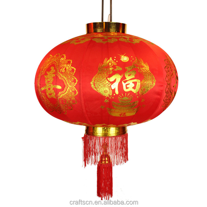 strict quality control decorative supplies hanging silk red lantern