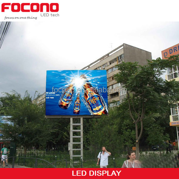 CE Rohs ETL High Pixel Density White Balance Long viewing Distance P6 Outdoor LED Display Screen