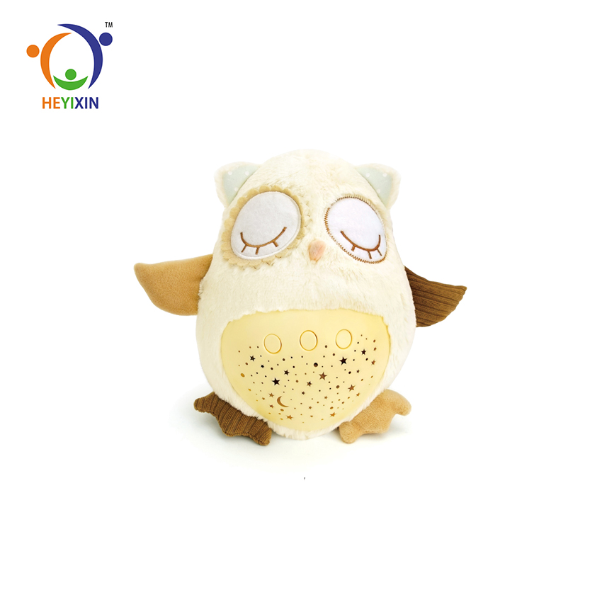 Wholesale New Product Kids Owl Baby Plush Toy <strong>Animal</strong> With Music And Light