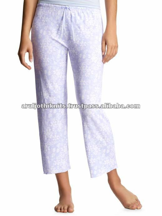 WOMEN'S PRINTED LEISURE PANT WITH ADJUSTABLE STRING AT WAIST