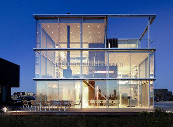 Used quality container glass houses prefab house buy for Prefab glass house prices