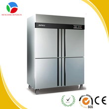 kitchen equipment commercial refrigerator/four doors stainless steel freezer manufacturer
