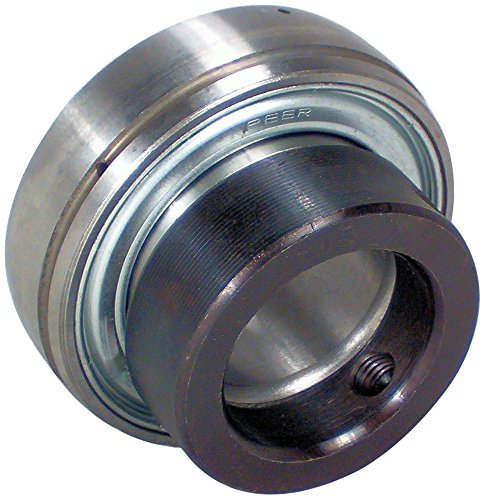 """Peer Bearing FH205-16 Insert Bearing, FH200-G Series, Narrow inner Ring, Spherical Outer Ring, Non-Relubricable, Eccentric Locking Collar, Single Lip Seal, 1"""" Bore, 15 mm Inner Ring, 21.5 mm Outer Ring, 1"""" (25.4 mm) ID, 2.047"""" (51.999 mm) OD, 2.047"""" (51.999 mm) Width"""