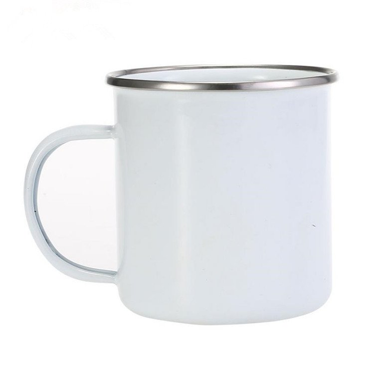 Alibaba.com / White Blank Sublimation Custom Metal Enamel Mug Cup