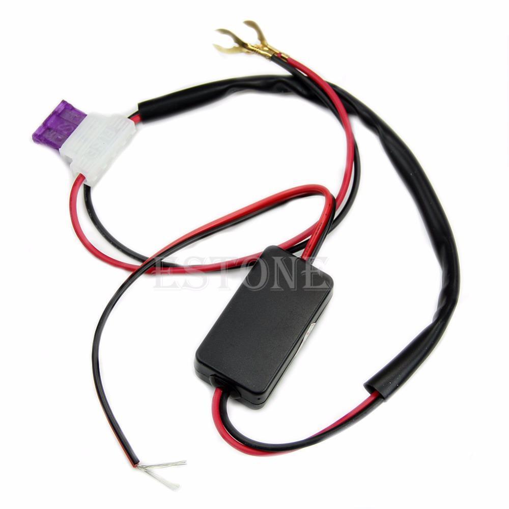 Новый из светодиодов автомобилей дневного света жгута реле DRL ControlL вкл / выкл автоматическое