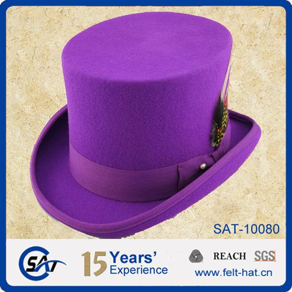 Wholesale Unique Men 100% Wool Felt Plain Top Hats - Buy Hat Mens ... bbdc3dd1020