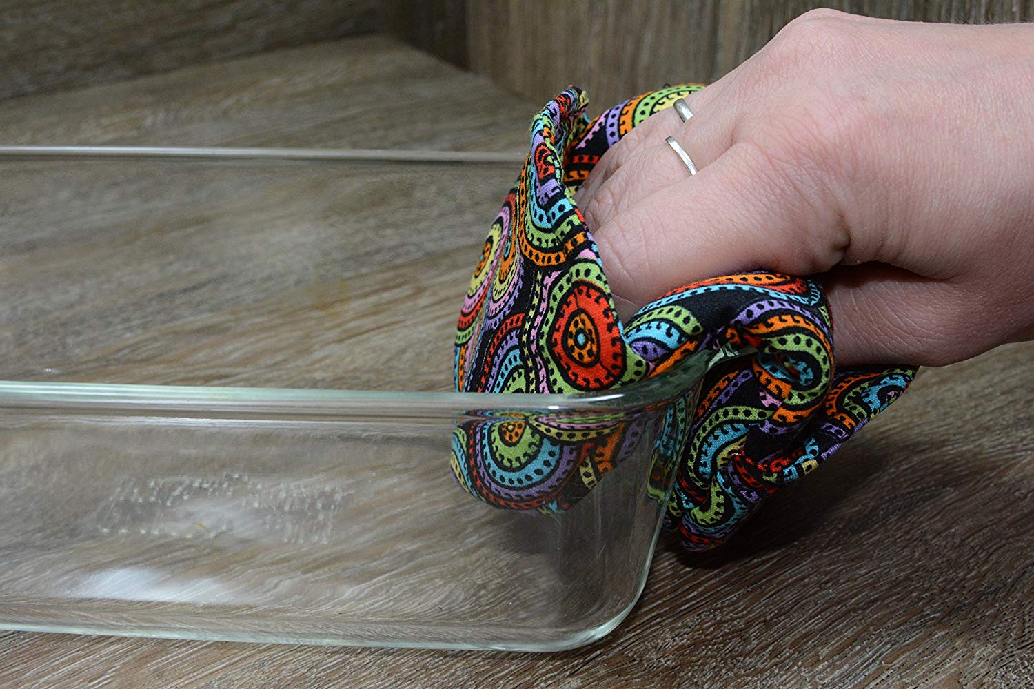 Mini Oven Mitts // Set of 2 // Fingertip Oven Mitts // Color Wheel