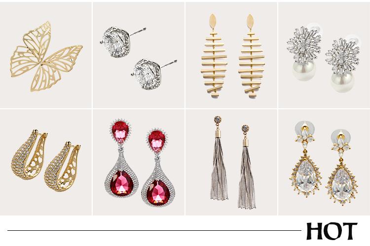 Flower Design Gold Chain Pave Rhinestone Fancy Long Drop Earrings