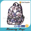 2015 hot sale women popular floral print travel backpack bag