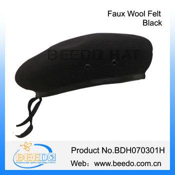 Barato Faux lana de fieltro negro ee.uu. boinas militares para la venta 288d281e25c