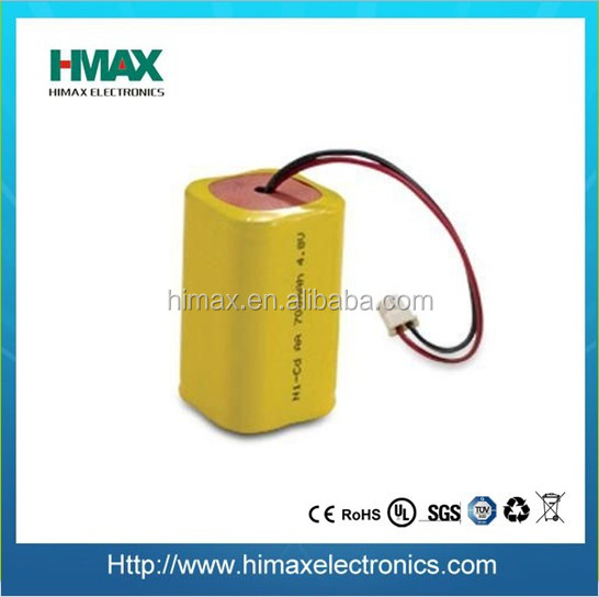 rechargeable batteries ni cd aa 500mah 4.8v battery pack