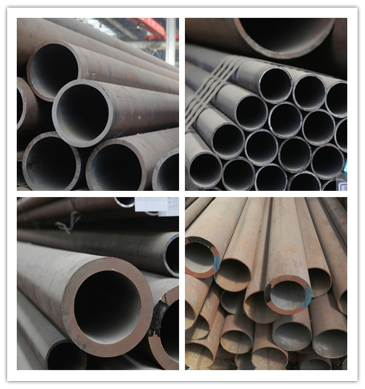 High quality 28 inch sch40 black large diameter seamless mild steel round pipe price