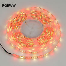 11 видов цветов 5050 5 м 12 В SMD Светодиодная лента Водонепроницаемая световая лента RGB RGBW RGBWW Декоративная гирлянда лампа 60 светодиодов/м желтый, ...(Китай)
