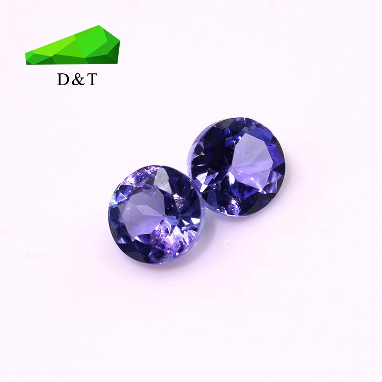 cheap gemstone natural gem round shape 4.0mm tanzanite loose gemstone for jewelry