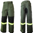 high quality 100% cotton /T/C working rip-stop cargo pants with reflective tape