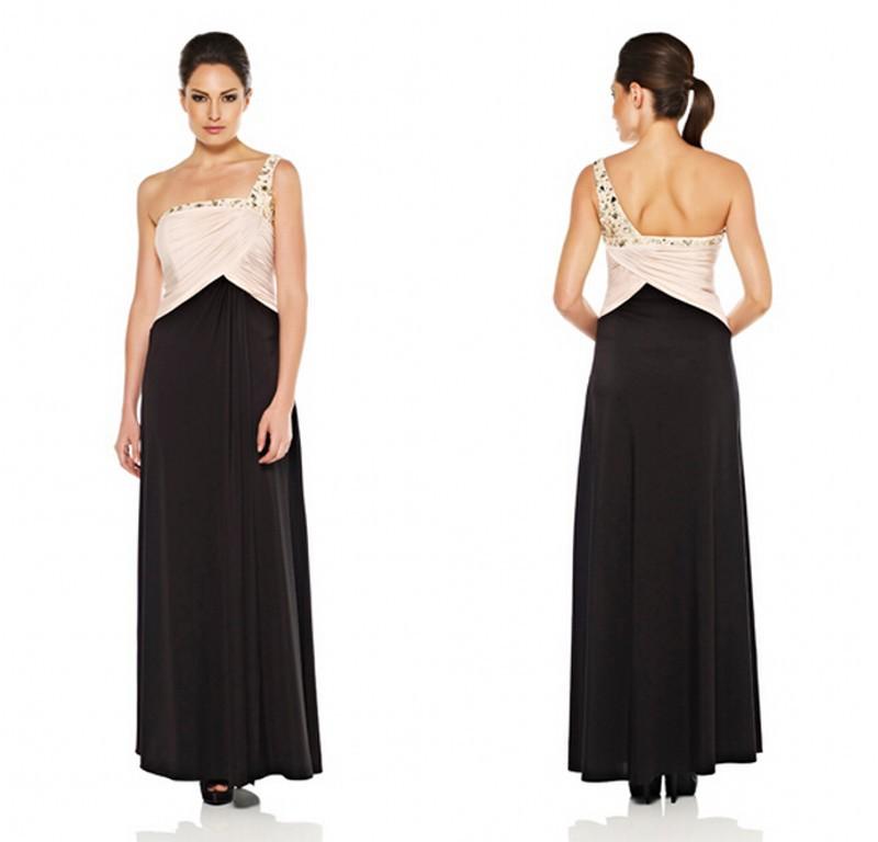 0d0a6d652f8 Buy Plus Size Evening Dress 2015 Long One Shoulder Grey Elegant Evening Gown  Grace Karin Vestido De Noite Longo CL007547 in Cheap Price on m.alibaba.com