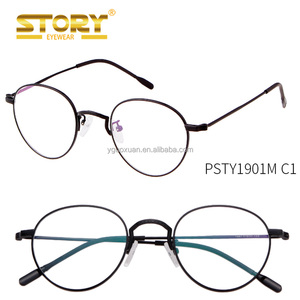 STORY PSTY1901M Metal Frame Eyewear Brand Designer Nerd Geek Women Men Unisex Round Glasses Clear Lens Spectacles