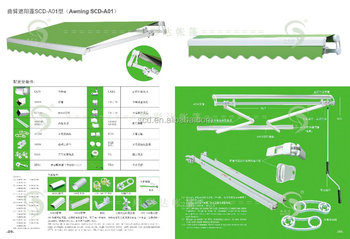 Manual Aluminum Retractable Awning Parts Wholesale Manufacture In China