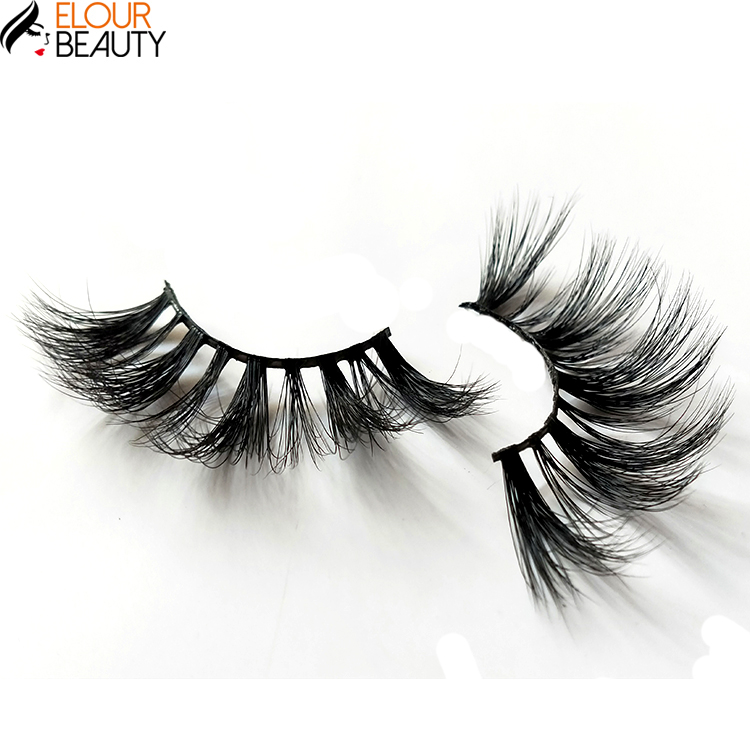 2019 high quality fluffy mink lashes 20mm 100% mink fur lashes private label with custom box for 5d mink eyelashes, Natural color